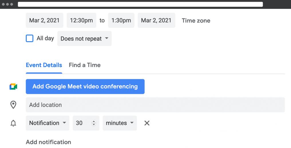 Schedule a Google Hangout