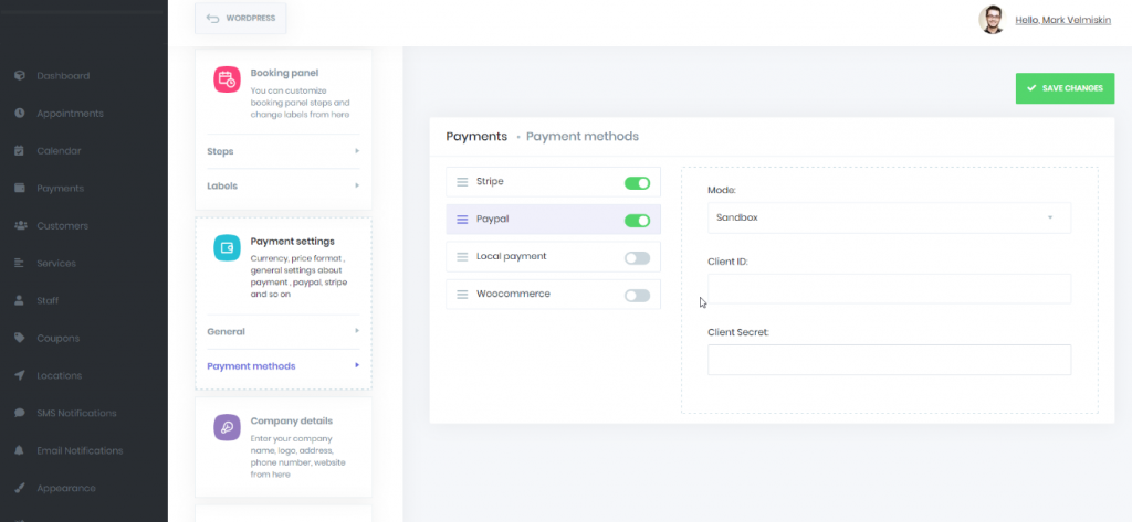 Supports PayPal, Stripe installments